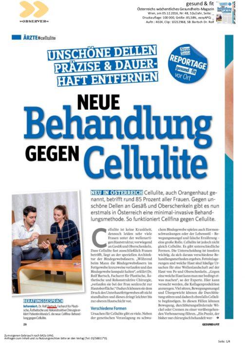 gesund24 – Neue Behandlung gegen Cellulite